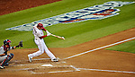 11 October 2012: Washington Nationals third baseman Ryan Zimmerman in action during Postseason Playoff Game 4 of the National League Divisional Series against the St. Louis Cardinals at Nationals Park in Washington, DC. The Nationals defeated the Cardinals 2-1 tying the Series at 2 games apiece. Mandatory Credit: Ed Wolfstein Photo