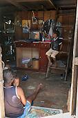 Xingu River, Para State, Brazil. The Volta Grande; Ressaca settlement, old garimeiro illegal gold-mining town. Inside a home.
