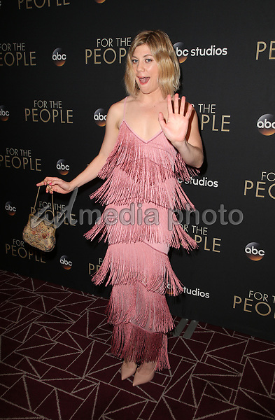 "10 March 2018-  West Hollywood, Susannah Flood. Premiere Of ABC's ""For The People"" held at The London West Hollywood. Photo Credit: Faye Sadou/AdMedia"