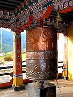 Prayer wheel in Bhutan