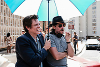 ACTION POINT (2018)<br /> (L-R) Johnny Knoxville and director, Tim Kirkby on the set <br /> *Filmstill - Editorial Use Only*<br /> CAP/FB<br /> Image supplied by Capital Pictures