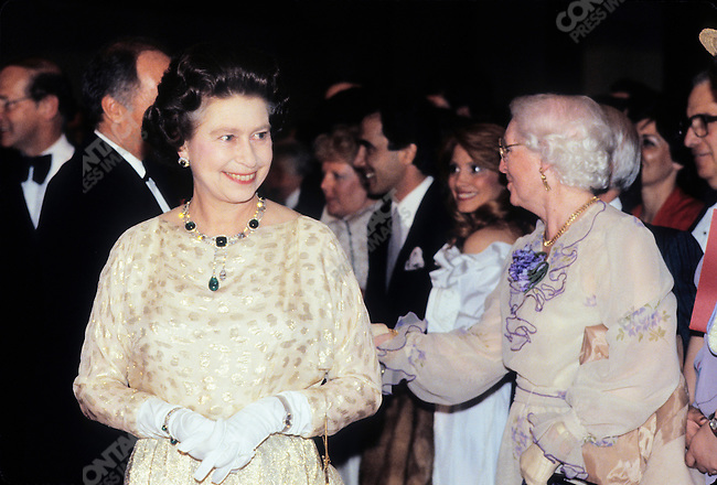 Queen Elizabeth II during a royal visit to Ottawa, Canada, April 1982