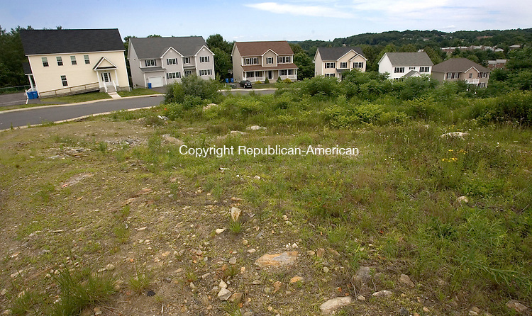WATERBURY CT. 10 July 2014-071014SV12-Developed and undeveloped land at Blue Ridge Estates on Blue Ridge Drive in Waterbury Thursday. Developer Yitz Rabinowitz plans to build community of 200 to 1000 Jewish families in the Bucks Hill section of Waterbury. <br /> Steven Valenti Republican-American