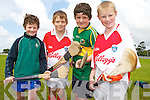 Anthony Barrett, Ruri O'Sullivan, Cathal Barrett, Conor Casey at the hurling Cul Camp at Na Gaeil GAA Club on Friday.