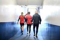 San Diego, CA - Sunday January 21, 2018: USWNT prior to an international friendly between the women's national teams of the United States (USA) and Denmark (DEN) at SDCCU Stadium.