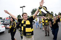 Colmubus Crew fans during MLS Cup 2008. Columbus Crew defeated the New York Red Bulls, 3-1, Sunday, November 23, 2008. Photo by John Todd/isiphotos.com