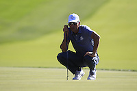 Raffa Cabrers-Bello (Team Europe) during Sunday Singles matches at the Ryder Cup, Hazeltine National Golf Club, Chaska, Minnesota, USA. 02/10/2016<br /> Picture: Golffile   Fran Caffrey<br /> <br /> <br /> All photo usage must carry mandatory copyright credit (&copy; Golffile   Fran Caffrey)