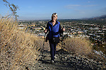 Woman hiking Museum Trail in Palm Springs