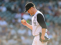 09 JUNE 2010: Colorado Rockies starting pitcher Aaron Cook during a regular season Major League Baseball game between the Colorado Rockies and the Houston Astros at Coors Field in Denver, Colorado.  The Astros beat the Rockies 6-2 in 10 innings. *****For Editorial Use Only*****