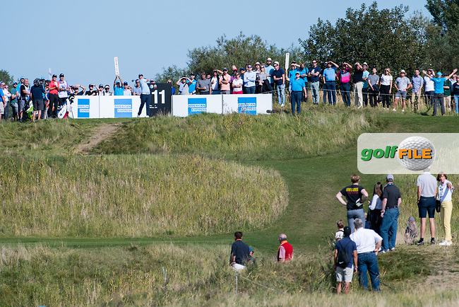Callum Shinkwin (ENG) in action on the 11th hole during the 3rd round at the KLM Open, The International, Amsterdam, Badhoevedorp, Netherlands. 14/09/19.<br /> Picture Stefano Di Maria / Golffile.ie<br /> <br /> All photo usage must carry mandatory copyright credit (© Golffile | Stefano Di Maria)