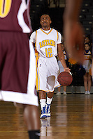 SAN ANTONIO , TX - DECEMBER 1, 2009: The Huston-Tillotson University Rams vs. the St. Mary's University Rattlers Men's Basketball at the Bill Greehey Arena. (Photo by Jeff Huehn)