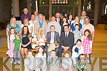 BAPTISED: Ben Pierce with his Parents Robert and Toni Pierce after his christening in St John's Church, Tralee and afterward to Kerins O'Rahilly's GAA Club, Tralee for refresments with family and friends................................... ....