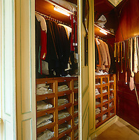 The Duke of Windsor's dressing room was left just as it was at his death and represents a unique collection of  clothing dating from the 1930's, a sartorial musuem piece