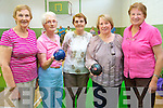 The newly formed Castlesisland Bowls Clubs enjoying one of their first day outs at a fun bowls day at Keel Community Centre last Thursday. <br /> L-R Margaret O'Mahony, Betty McAuliffe, Kay Nolan, Peggy Reidy and Mary Kelliher.