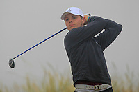Oisin Devereux (Carton House) on the 1st tee during Round 1 - Matchplay of the North of Ireland Championship at Royal Portrush Golf Club, Portrush, Co. Antrim on Wednesday 11th July 2018.<br /> Picture:  Thos Caffrey / Golffile
