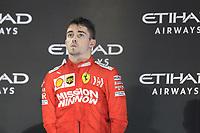1st December 2019; Yas Marina Circuit, Abu Dhabi, United Arab Emirates; Formula 1 Abu Dhabi Grand Prix, race day; Scuderia Ferrari, Charles Leclerc 3rd placed on the podium