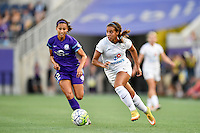 Orlando, FL - Saturday Sept. 24, 2016: Kristen Edmonds, Frances Silva during a regular season National Women's Soccer League (NWSL) match between the Orlando Pride and FC Kansas City at Camping World Stadium.