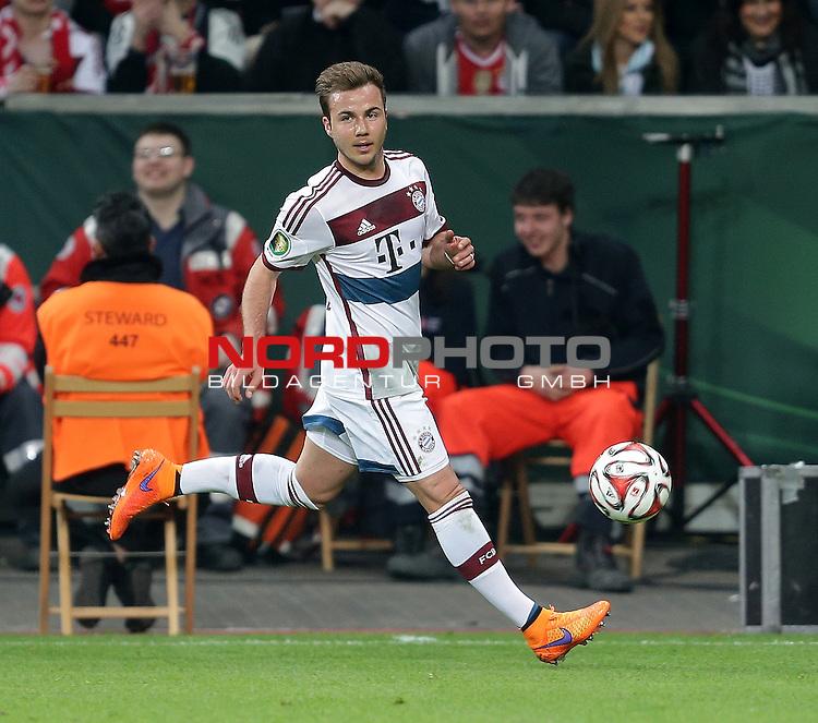 08.04.2015, BayArena, Leverkusen, DFB Pokal, Bayer 04 Leverkusen vs. Bayern M&uuml;nchen<br /> Mario G&ouml;tze (M&uuml;nchen)<br /> Foto &copy; nordphoto /  Bratic