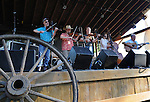 Fiddle Fever, performing in the Toshi Seeger stage on Hoot Hill, on the third-and-final day of the 4th Annual Summer Hoot Festival, held at the Ashokan Center in Olivebridge, NY, on Sunday, August 28, 2016. Photo by Jim Peppler; Copyright Jim Peppler 2016.