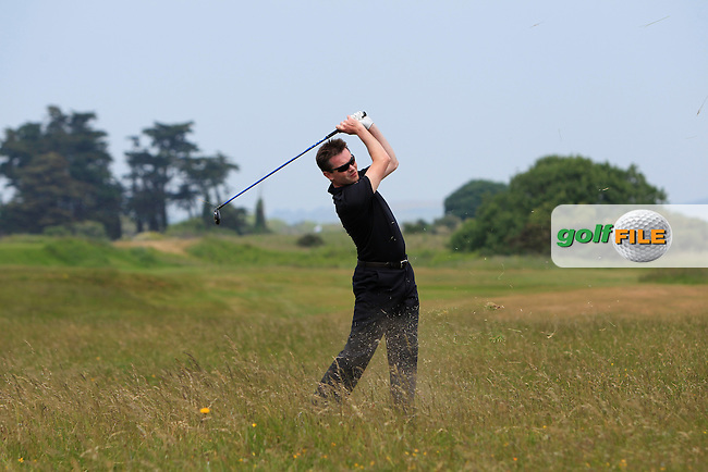 Stephen Healy (The Royal Dublin) on the 2nd during Round 4 of the East of Ireland Amateur Open Championship sponsored by City North Hotel at Co. Louth Golf club in Baltray on Monday 6th June 2016.<br /> Photo by: Golffile | Thos Caffrey
