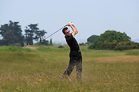 Stephen Healy (The Royal Dublin) on the 2nd during Round 4 of the East of Ireland Amateur Open Championship sponsored by City North Hotel at Co. Louth Golf club in Baltray on Monday 6th June 2016.<br /> Photo by: Golffile   Thos Caffrey
