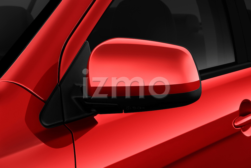 Side mirror detail on a 2012 Mitsubishi Lancer GT Touring