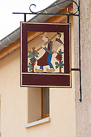 sign post clos st louis fixin cote de nuits burgundy france