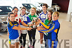 Attending the launch of the Randles Bros sponsored Kerry Ladies Championships (Senior, Intermediate and Junior) in Randles Bros, Manor West Tralee on Friday.   <br /> L-r, Sarah Houlihan (Beaufort), Aisling Desmond (Rathmore), Eilish Lynch (Castleisland), Deirdre Kearney (Na Gaeil), Lorraine Scanlon (Castleisland), Susan Fernane (Na Gaeil) and  Amy Foley (Beaufort).