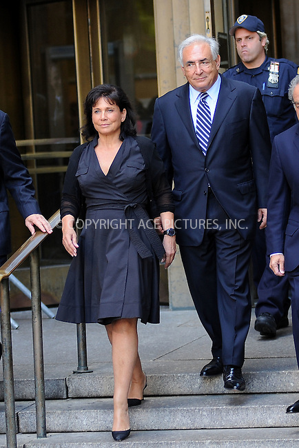 WWW.ACEPIXS.COM . . . . . .August 23, 2011 New York City....Former International Monetary Fund (IMF) director Dominique Strauss-Kahn departs Manhattan State Supreme Court with his wife Anne Sinclair  and attorney Benjamin Brafman on August 23, 2011 in New York City. The Manhattan District Attorney's office has filed a motion to dismiss the sexual assault charges against Strauss-Kahn.  August 23, 2011 in New York City....Please byline: KRISTIN CALLAHAN - ACEPIXS.COM.. . . . . . ..Ace Pictures, Inc: ..tel: (212) 243 8787 or (646) 769 0430..e-mail: info@acepixs.com..web: http://www.acepixs.com .