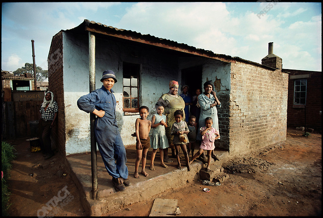 A family in Soweto during Apartheid, South Africa. February 1976.
