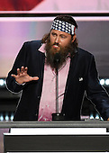 Willie Robertson of Duck Dynasty speaks at the 2016 Republican National Convention held at the Quicken Loans Arena in Cleveland, Ohio on Monday, July 18, 2016.<br /> Credit: Ron Sachs / CNP<br /> (RESTRICTION: NO New York or New Jersey Newspapers or newspapers within a 75 mile radius of New York City)