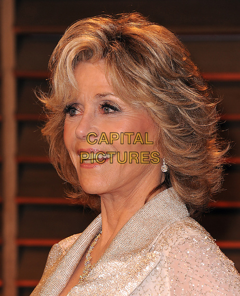 WEST HOLLYWOOD, CA - MARCH 2: Jane Fonda arrives at the 2014 Vanity Fair Oscar Party in West Hollywood, California on March 2, 2014.  <br /> CAP/MPI/MPI213<br /> &copy;MPI213/MediaPunch/Capital Pictures