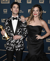 BEVERLY HILLS - JANUARY 6: Darren Criss and Mia Swier attend the 2019 Fox Nominee Party for the 76th Annual Golden Globe Awards at the Fox Terrace on the Roof Deck of the Beverly Hilton on January 6, 2019, in Beverly Hills, California. (Photo by Scott Kirkland/Fox/PictureGroup)