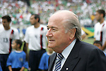 24 June 2007:  Sepp Blatter, president of FIFA. The United States Men's National Team defeated the national team of Mexico 2-1 in the CONCACAF Gold Cup Final at Soldier Field in Chicago, Illinois.
