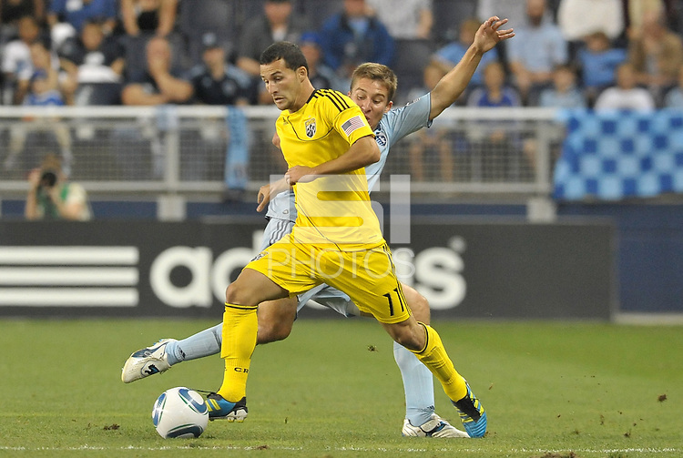 Columbus Crew midfielder Dilly Duka (11) in action... Sporting Kansas City defeat Columbus Crew 2-1 at LIVESTRONG Sporting Park, Kansas City, Kansas.