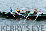 Isla Ní Ghairnéir, Claire Pinas Cavanagh, Jess McCarthy and Finn Slattery Dunne during the U12 race at the Ventry Regatta on Sunday afternoon.