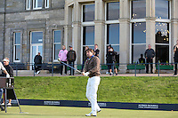 Robert-Jan Derksen (NED) tees off on the Old Course during the practice round before the 2014 Alfred Dunhill Links Championship, The Old Course, St Andrews, Fife, Scotland. Picture:  David Lloyd / www.golffile.ie