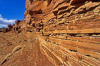 Sedimentary rocks of the Moenkopi Formation, triassic shales, mudstone, sandstone and siltstone at Wupatki National Monument, Arizona, AGPix_0056.