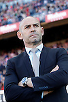 Rayo Vallecano's coach Paco Jemez during La Liga match. April 30,2016. (ALTERPHOTOS/Acero)