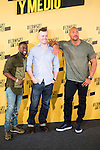 "Americans Actors Kevin Hart and Dwayne Johnson with the director of the film Rawson Marshall Thurber (C) during the presentation of the film ""Un espia y medio"" at Hotel Villa Magna in Madrid. June 07. 2016. (ALTERPHOTOS/Borja B.Hojas)"