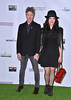 SANTA MONICA, CA. February 21, 2019: Aidan Gillen &amp; Camille O'Sullivan at the 14th Annual Oscar Wilde Awards.<br /> Picture: Paul Smith/Featureflash