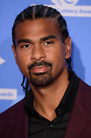 David Haye<br /> celebrating the inspirational winners in this year's National Lottery Awards, the search for the UK's favourite National Lottery-funded projects.  The glittering National Lottery Awards show, hosted by Ore Oduba, is on BBC One at 10.45pm on Wednesday 26th September.<br /> <br /> ©Ash Knotek  D3434  21/09/2018