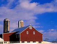 Barn in Winter  Near Lancaster, Pennsylvania  Pennsylvania Dutch Amish Country  December   Sunset