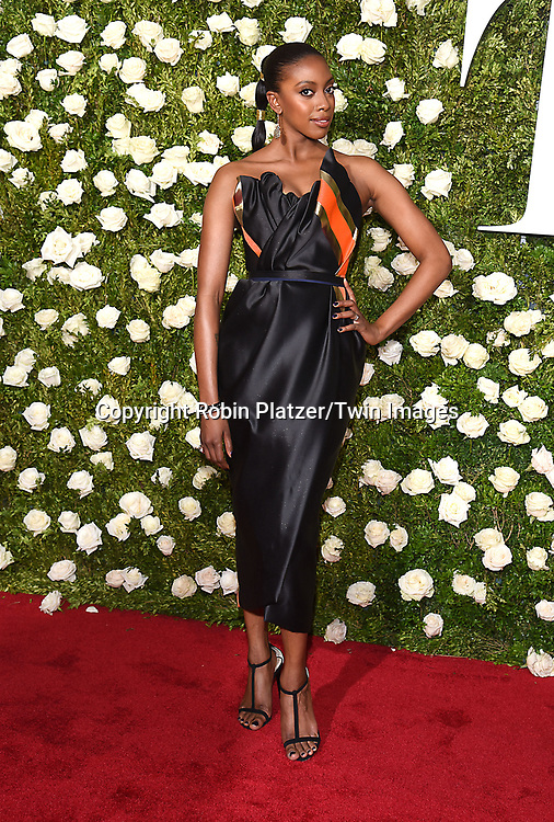 Condola Rashad attends the 71st Annual  Tony Awards on June 11, 2017 at Radio City Music Hall in New York, New York, USA.<br /> <br /> photo by Robin Platzer/Twin Images<br />  <br /> phone number 212-935-0770