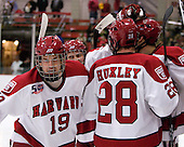 Alex Killorn (Harvard - 19), Conor Morrison (Harvard - 38), Chris Huxley (Harvard - 28), Danny Biega (Harvard - 9) - The Harvard University Crimson defeated the visiting Colgate University Raiders 6-2 (2 EN) on Friday, January 28, 2011, at Bright Hockey Center in Cambridge, Massachusetts.