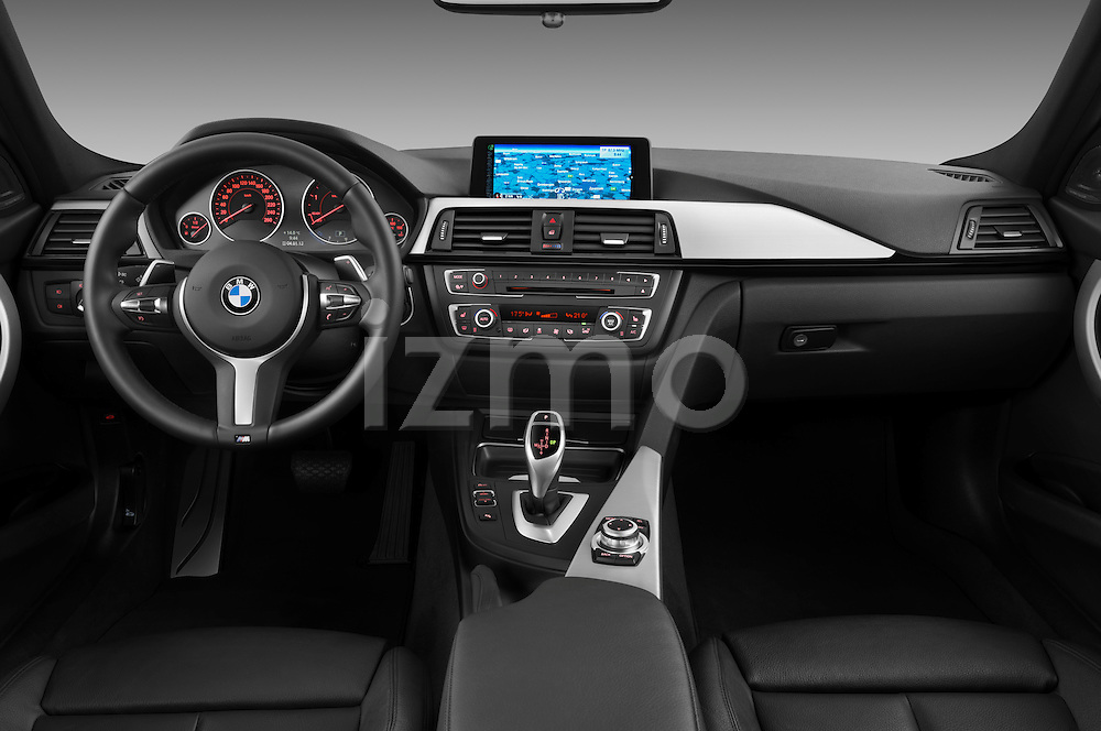 Straight dashboard view of a 2013 BMW 330d Touring Wagon
