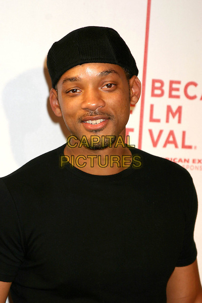"""WILL SMITH.3rd Annual Tribeca Film Festival - """"Raising Helen"""" - Arrivals.Tribeca Performing Arts Center New York City, New York.headshot, portrait, hat.www.capitalpictures.com.sales@capitalpictures.com.Supplied By Capital Pictures"""