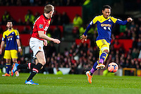 Sunday 05 January 2014<br /> Pictured:Jonathan de Guzman <br /> Re: Manchester Utd FC v Swansea City FA cup third round match at Old Trafford, Manchester