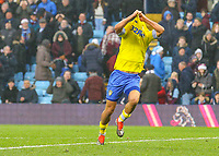 Leeds United's Kemar Roofe celebrates scoring his side's third goal <br /> <br /> Photographer Alex Dodd/CameraSport<br /> <br /> The EFL Sky Bet Championship - Aston Villa v Leeds United - Sunday 23rd December 2018 - Villa Park - Birmingham<br /> <br /> World Copyright &copy; 2018 CameraSport. All rights reserved. 43 Linden Ave. Countesthorpe. Leicester. England. LE8 5PG - Tel: +44 (0) 116 277 4147 - admin@camerasport.com - www.camerasport.com