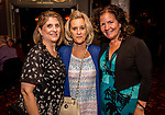 WATERBURY, CT. 18 May 2018-051818BS19 - From left, Ann Cianciolo of Waterbury, Ginger Guerrera of Waterbury, and Jeanette Zuraitis of Litchfield stand together for a photo on Friday evening for the Palace's Annual Big Fundraiser. Bill Shettle Republican-American